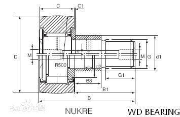 INA stud type track needle roller bearing
