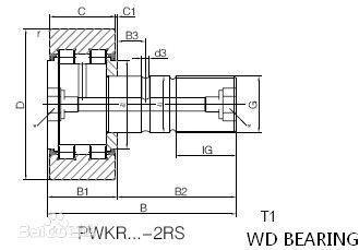 GERMANY stud type track needle roller bearing