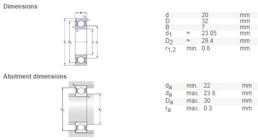 15-24-5 mm choose type, tier, pack Bearing 61802 single row deep groove ball