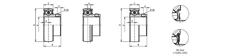 high quality SB203 bearing