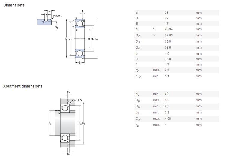 NSK high temperature bearings BL207NR Deep Groove Ball Bearings