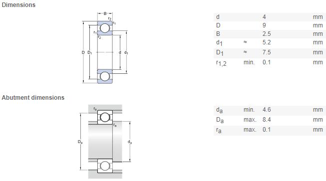 NSK 684zz bearing 4*9*4 mm 684 ZZ Deep Groove Ball Bearing