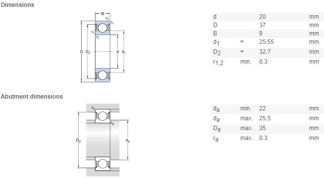 NSK 6904z bearing 20*37*9 mm Deep Groove Ball Bearings 6904ZZ