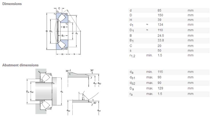 Zysl Self Aligning Thrust Bearing Producer 29317e Thrust