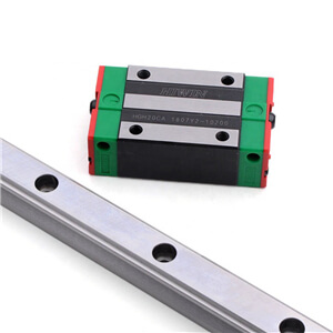 What is the function of precision linear rails?