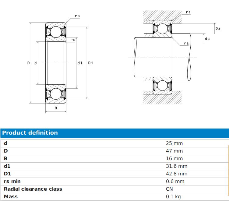 NTN 63005 LLU bearing datasheet