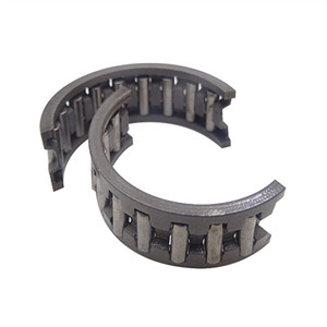 What's the characteristic of Split needle roller bearings cage?