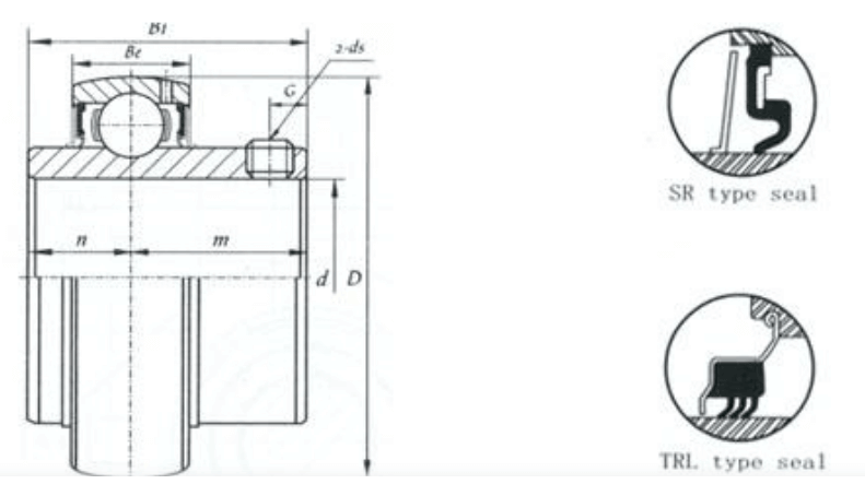 uc bearing drawing