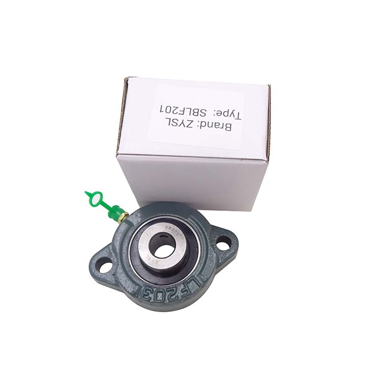 ZYSL SBLF201 flange mount bearing factory 2 bolts flange mounted pillow block bearings