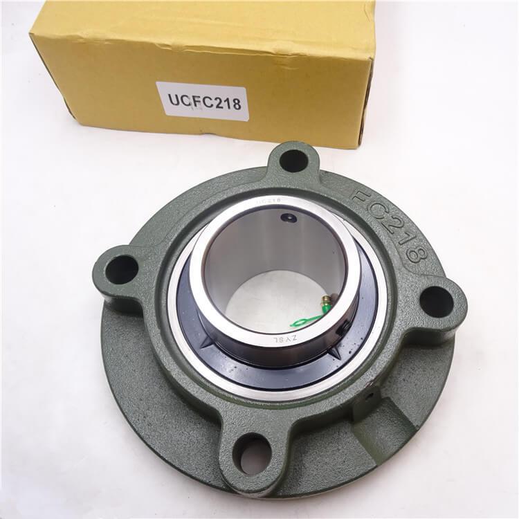 ZYSL UCFC218 bearing 90mm bore Round flanged ball bearing units